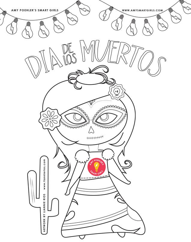 Dia de los Muertos 2014 • Coloring Page