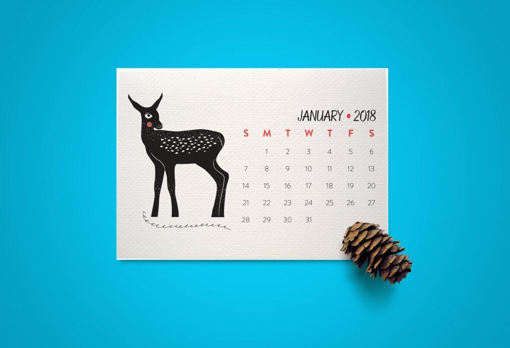 Mini Calendar 2018