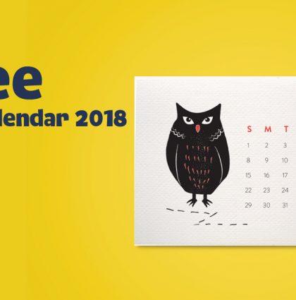 Free Mini Calendar 2018